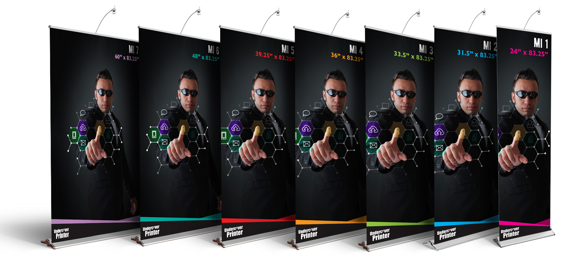 Pull up- banner stand- Pull up banner stands- MI- trade show- display- local- VA- Undercover Printer