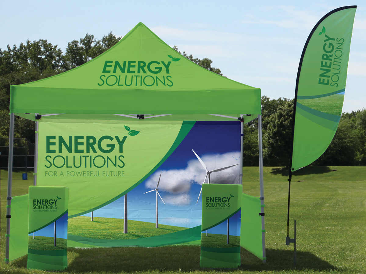 Outdoor-tent-flag-kit-2 & Tradeshow Exhibits and Displays | Fairfax Virginia Washington DC