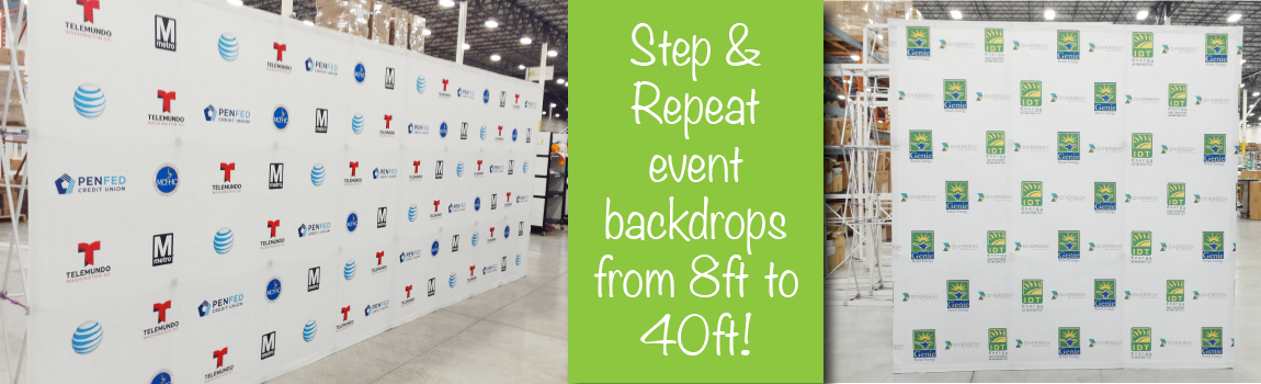 step & repeat- back wall- display- trade show- custom sizing- local- VA- Undercover Printer