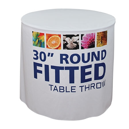 Round- fitted- table throw- table- display- local- trade show- VA- Undercover Printer