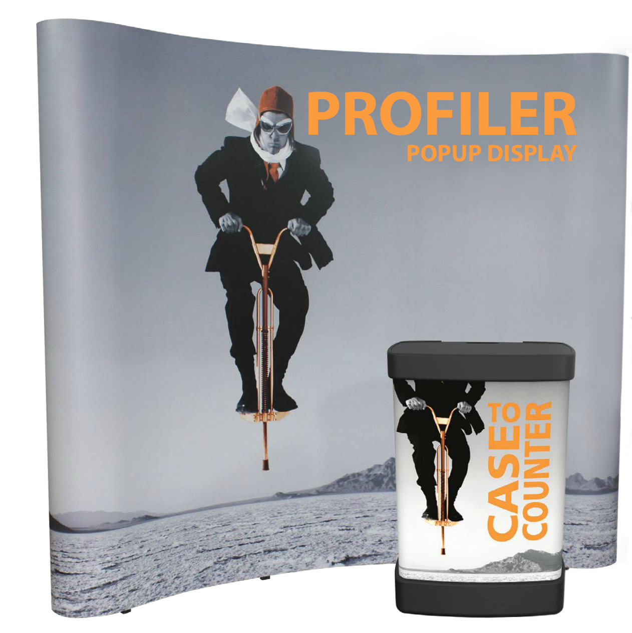 Pop Up- Profiler- Pop Up Profiler- back wall- display- local- VA- trade show- Undercover Printer