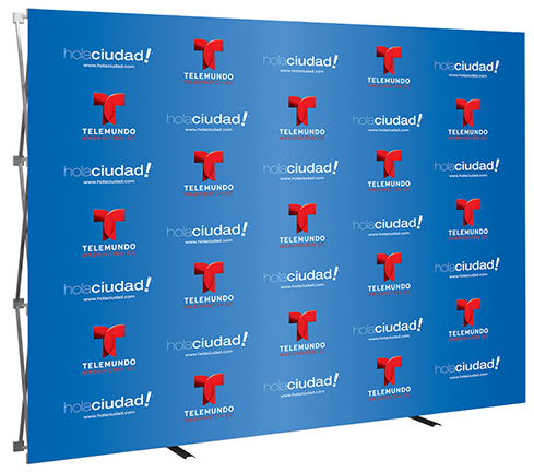 10ft- Big Easy- step & repeat- back wall- trade show- display- local- VA- Undercover Printer