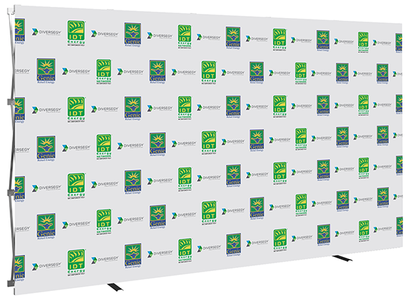 12ft- Big Easy- step & repeat- back wall- trade show- display- local- VA- Undercover Printer