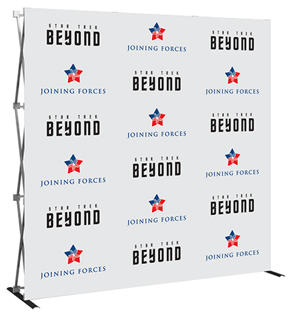 8ft- Big Easy- step & repeat- back wall- trade show- display- local- VA- Undercover Printer